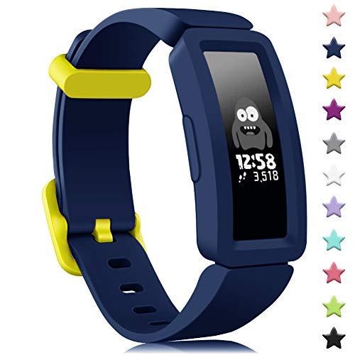 Onedream Kompatibel für Fitbit Ace 2 Armband Kids, Klassische Sport Band Silikon Ersatzzubehör Armbänder Kompatibel für Fitbit Ace 2 & Inspire HR Kinder (Blau)