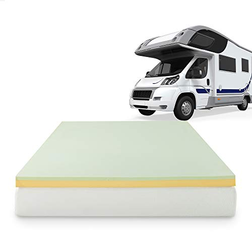 ZINUS 3 Inch Green Tea Memory Foam Mattress Topper / Pressure-Relieving Layers / CertiPUR-US Certified, Short Queen