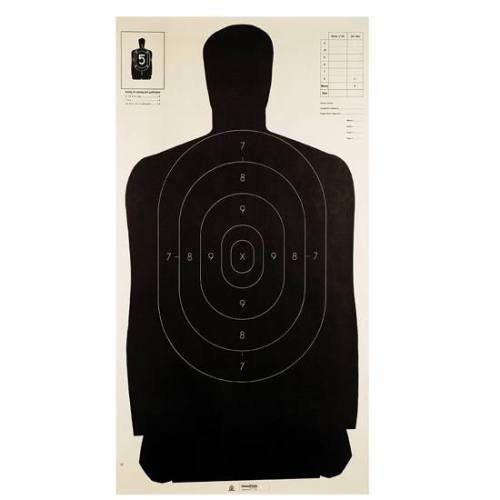 Champion Traps and Targets LE B27 Black Police Silhouette Target Pack of 100  24quot x 45quot