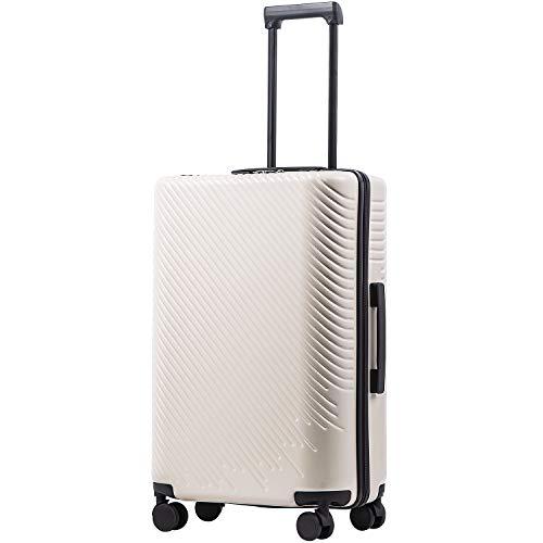 COOLIFE COOLIFE Hartschalen-Koffer Trolley Rollkoffer Reisekoffer mit TSA-Schloss und 4 Rollen (Weiß, Koffer-Set)