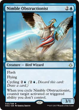 Magic The Gathering Nimble Obstructionist Ostruzionista Agile - Hour of Devastation