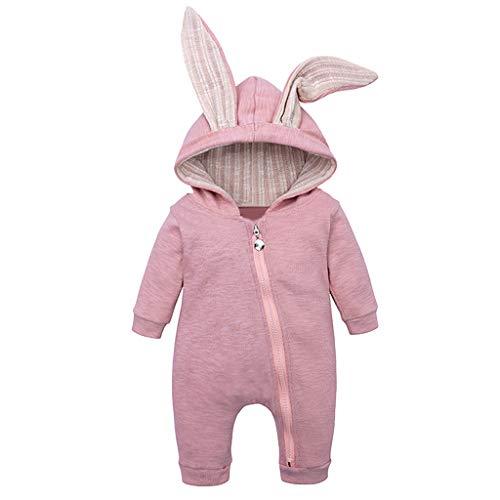 Mameluco Bebe Niño Mono Bebe Invierno Encapuchado Color Solido Oreja de Conejo Ropa Bebe Niña Recien Nacido