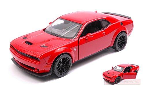 NEW MOTORMAX MTM79350R Dodge Challenger SRT Hellcat WIDEBODY 2018 Red 1:24 DIE Cast