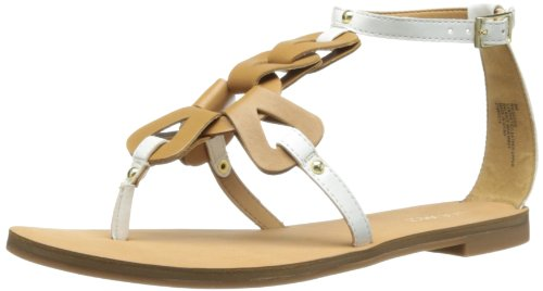 Nine West Damen Sandale Saddie, Weiá (White/Natural Synthetic), 38 EU