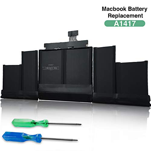 Bitomic A1417 Battery Pack for MacBook Pro 15 Inch Retina 8800mAh, 11.34V - Compatible with MacBook Pro A1398 (Mid 2012&Early 2013), A1417(2012 Version)| Replacement MacBook Battery