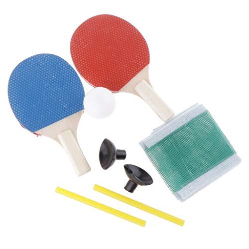 HomeDecTime Mini Juego de Red de Pelota de Raqueta de Tenis de Mesa Entrenador de Juegos de -Pong para Interiores