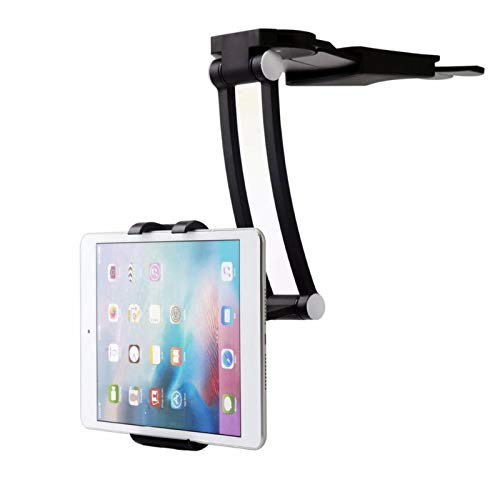 allforyou Soporte de Montaje de la Pared Flexible de Giro 360 Soporte de Montaje en la Pared 2 en 1 Lazy Pull-Up Desktop/Bed Phone Tablet Soporte Ajustable para la Cocina