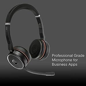 Jabra Evolve 75 Bluetooth Headset Bundle w/Bonus Wall Charger, USB Dongle 7599-832-109-B   PC/MAC Compatible for Dragon, Softphones, Smartphones, Tablet, PC, Microsoft Certified, Skype, Cisco, Avaya
