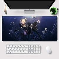 11Q ニーア オートマタ NieR:Automata ヨルハ二号B型 YoRHa No.2 Type B 2B 大判マウスパッド パソコン 周辺機器 アニメ・キャラクター ゲーミング マウスパッド 巨大 適用 ファッション かわいい 萌え 90X40X0.3cm