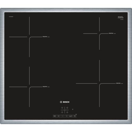 Bosch  PUE645BB1E - Placade inducción ,Integrable,  Terminación en acero, 17 niveles de potencia, Color negro