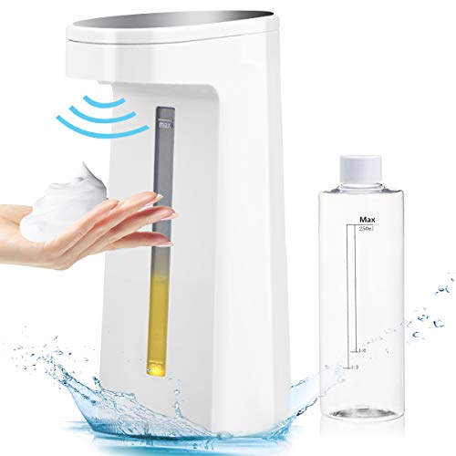 GEMITTO Dispensador de jabón automático con Sensores Infrarrojos con Sensor sin Contacto del inducción mesa Dispensador Inteligente de jabón líquido 250ml para baño, cocina, oficina, viajes.