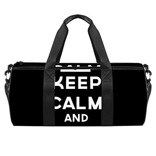 Borsone da palestra rotondo con tracolla staccabile Keep Calm And Ctrl Z Training Bag per donne e uomini