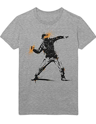 Hypeshirt T-Shirt Color Spray Z100073 Grau M