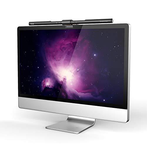 Quntis Computer Monitor Lampe LED USB mit Touch Control, Anti-blaues Licht Anti-Strahlung Schreibtischlampe mit Auto-Dimmen, USB Bildschirmlampe mit stufenloser einstellbaren Farbtemperatur Helligkeit