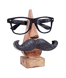 Klassische Hand geschnitzt Palisander Nase-förmigen Brillen-Brillenhalter mit schwarzem Schnurrbart
