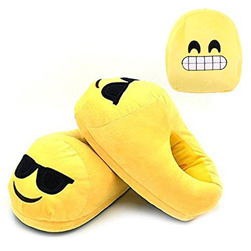 Bonus Emoji Mochila + Super lindo Emoji Zapatillas Zapato Cómodo Interior para niños de algodón y…