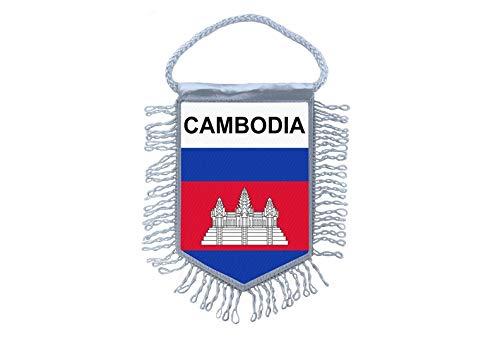 Akachafactory Wimpel Mini Flagge Fahne flaggen miniflagge Kambodscha