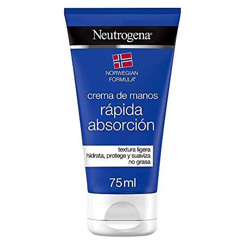 Neutrogena Crema de manos rápida absorción, textura ligera, fórmula Noruega, 75 ml