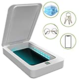 UV Steriliser Box, 5V Portable Smart Phone Sterilizer Multifunction Aromatherapy Function Disinfector UV Cleaner for Keys, Toothbrushes, Cell Phones and Other Personal Item,White