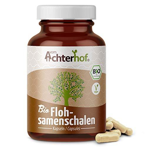 Flohsamenschalen Kapseln BIO (180 Stück) je 700mg Flohsamen Schalen Pulver hochdosiert | In Deutschland abgefüllt und untersucht | 99+{a5426d11594de34bf7cc28af477446893a8717e4242fb7ebeca069701247dee8} Reinheit | Bio zertifiziert und vegan