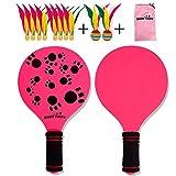 Colinsa Raquette de Badminton en Bois de qualité pour Enfants de Raquette de Plage Portable - Raquette de Plage en Bois Raquette de Plage de Haute qualité pour Enfants Raquette de Badminton