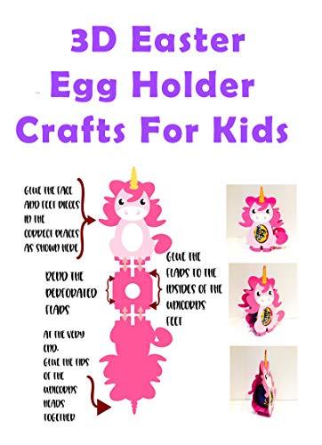 3D Easter Egg Holder Crafts For Kids: Fun Easter Egg Box Holder Designe Crafts For Kids, Learn How To Make Easter egg At Home Enjoy. (English Edition)