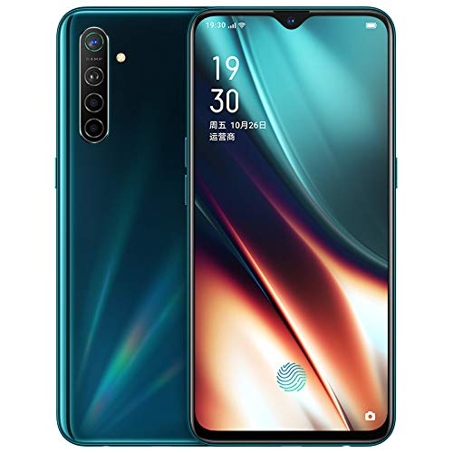"Original Oppo K5 6G+128GB 4G LTE Global ROM Snapdragon 730G Android 9 NFC Double WiFi 6.4"" Super Amoled 64.0MP 30W Vooc Charge 4000mAh 5cameras 64MP Support Google-by (CTM Global Store) (Green 6+128g)"