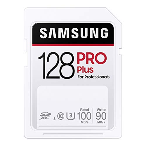 Samsung PRO Plus SDカード 128GB SDXC UHS-1 U3 100MB/s MB-SD128H/EC 国内正規保証品