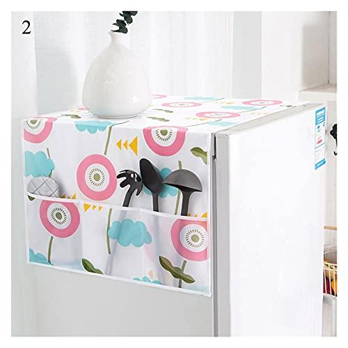 YSJJWDV Copertura Lavatrice Copertura Antipolvere Cover Colorful Frigorifero Pocket Pocket Multiuso Polvere Panno per la casa Tessile Copertura per la Lavatrice (Color : 2)