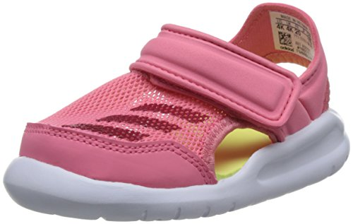 adidas Unisex Kinder Fortaswim I Durchgängies Plateau Sandalen, Pink (Chalk Pink S18/vivid Berry S14/ftwr White), 23 EU