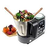 PRIXTON - Programmierbarer Kochfunktion-Küchenmaschine: Mischen, Schlagen, Hacken, Dampfgarer,...
