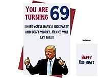 もう一度69大作ろう – ドナルド・トランプ – Sarcasm 69歳の誕生日カード 女性、男性、友人、同僚などに。 – ドナルド・トランプ誕生日カード 69歳 – 69歳 誕生日カード 69周年記念