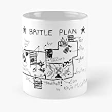 Kevin's Battle Plan - Home Alone Inspired Graphic Classic Mug The Funny Coffee Mugs For Halloween, Holiday, Christmas Party Decoration 11 Ounce White-crepchief