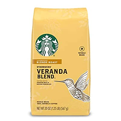 Starbucks Blonde Roast Whole Bean Coffee — Veranda Blend — 100% Arabica — 1 bag (20 oz.)