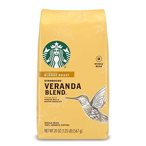 Starbucks Blonde Roast Whole Bean Coffee — Veranda Blend — 100% Arabica — 1 bag (20 oz.)