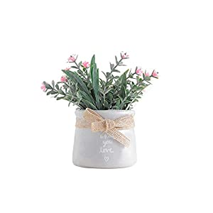Small Artificial Faux Greenery Plants Bathroom Home Office Decoration Fake Simulation Pots Plants,2