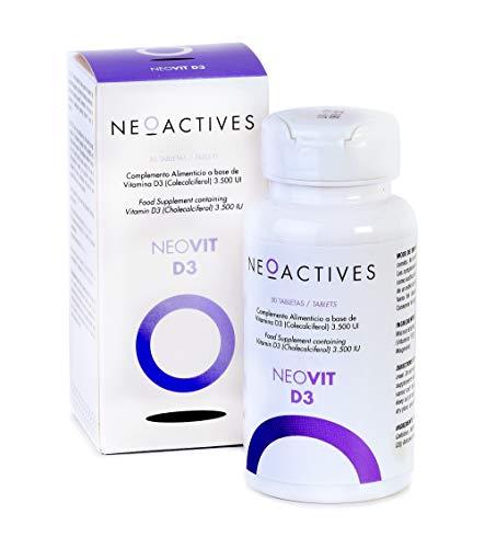 NeoVit D3 | Suplemento con 3,500 U.I. de vitamina D en forma de D3 | sistema inmunitario y mantenimiento músculos, huesos y dientes | Complemento concentrado, solo 1 capsula día (30 cápsulas)