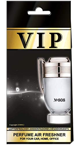 3x Caribi VIP Auto Lufterfrischer Parfüm HEIM BÜRO Duft ähnlich wie teures Parfüm №808