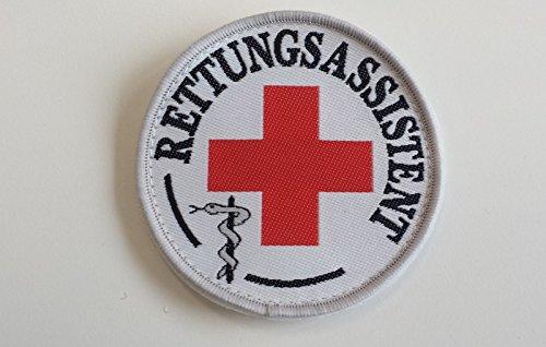 Rettungsassistent-Abzeichen (Durchmesser ca 8,5cm), zum Aufkletten