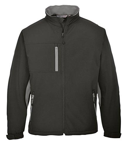 Portwest TX45GRRL große Texo Kontrast/jacket_p Soft Shell Gr. XXX-Large, Schwarz - Schwarz