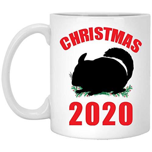 Divertido regalo de Navidad 2020 para los amantes de la silueta de Chinchilla, taza de café de 11 onzas