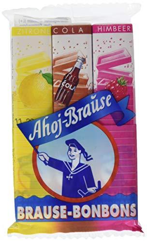 Ahoj-Brause Brause-Bonbon-Stangen – Brause-Bonbons verpackt als Stange – 3 verschiedene Geschmacksrichtungen: Zitrone, Cola und Himbeere - 36er Pack (36 x 69 g)
