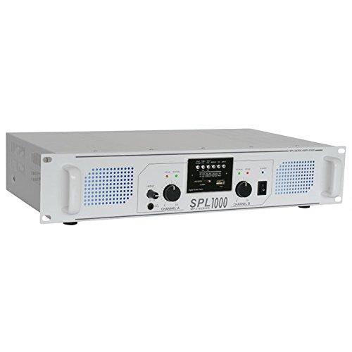 SkyTec 2 x 500W DJ PA versterker SPL1000MP3 met USB MP3 speler - Wit