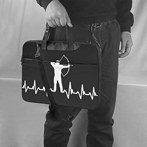 Tiro con Arco Heart Beat Laptop Bag Maletín a Prueba de Golpes Bolsos de Hombro Estuche portátil Laptop Laptop