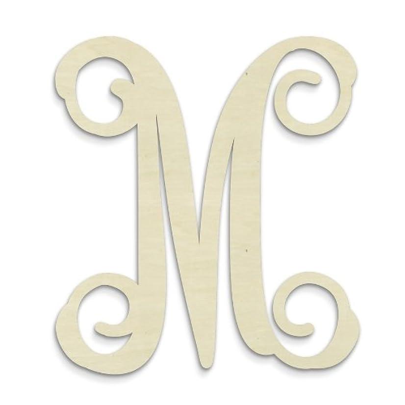 UNFINISHEDWOODCO Single Vine Monogram Unfinished Letter, 19.5-Inch, Letter