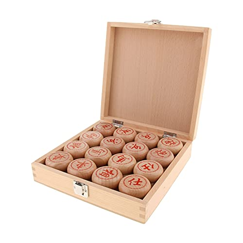 SASAU Chinese Chess/Xiangqi Wooden Classic Chinese Board Game Family Game