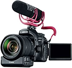 Canon Video Creator Kit, EOS 80D with EF-S 18–135mm Lens, Rode Videomic Go, and 32GB Sandisk Memory Card, Black