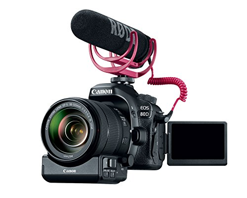 Canon Video Creator Kit [EOS 80D] with EF-S 18–135mm Lens, Rode VIDEOMIC GO, and 32GB Sandisk Memory Card - Black