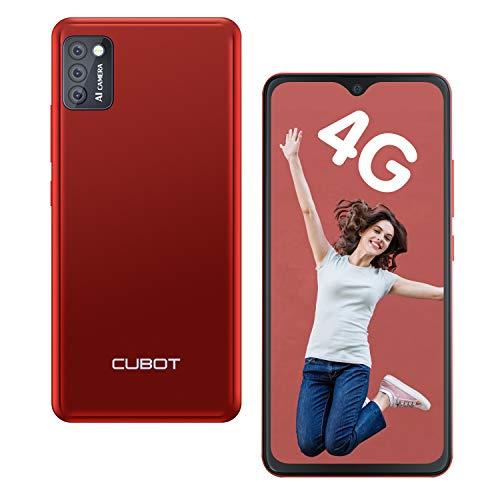 CUBOT Note 7 Smartphone ohne Vertrag 4G, Android 10 Go, 5,5' HD Display, 13MP Dreifach Kamera, 2GB/16GB, 128 GB erweiterbar, Daul SIM Triplo Slot Handy - Deutsche Version (Rot)