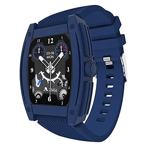 HQPCAHL Relojes Inteligentes Hombre Llamada Bluetooth con Pulsómetro,Podómetro,Monitor De Sueño,Modos De Deportes Cronómetrol,Pulsera De Actividad,Smartwatch Inteligentes Hombre para iOS Y Android,A
